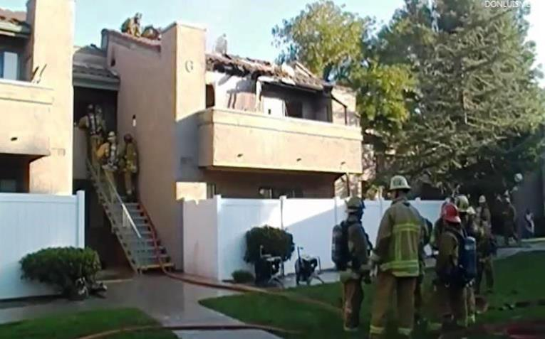 Forty-five firefighter responded to the fire at the La Quinta apartments in Palmdale.