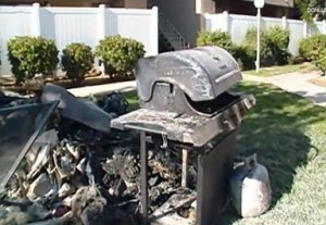Neighbors believe this grill sparked the blaze.