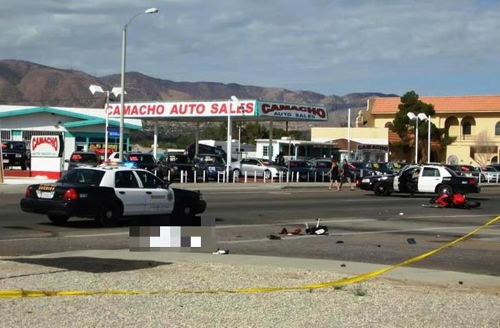 The fatal collision happened in the intersection of Palmdale Boulevard and 15th Street East. (Photo by LUIS MEZA)