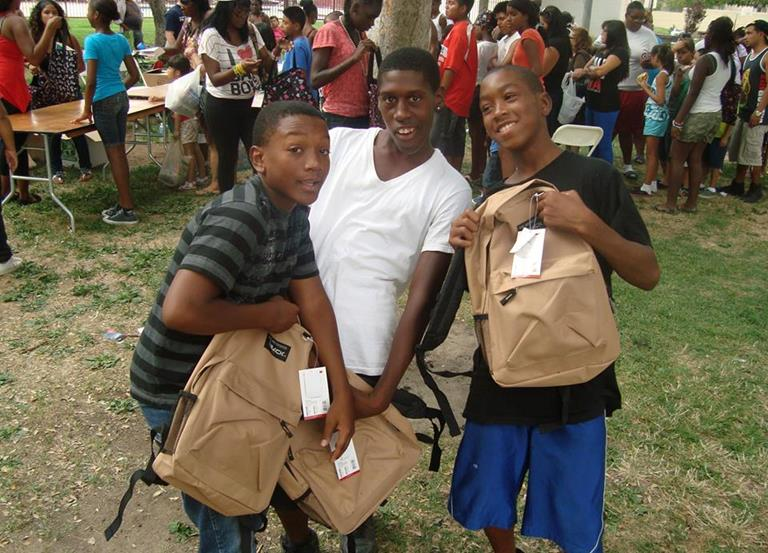 The One Way Backpack Giveaway has grown every year since its inception. (Photo courtesy One Way Up.)