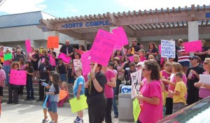 The announcement is good news for Palmdale teachers, who've held several rallies this year to protest proposed salary reductions and furlough days.