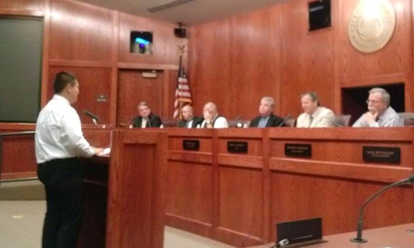 Cesar Vega Magallon was one of nearly two dozen Latino rights activists who spoke at the Palmdale City Council meeting Wednesday in favor of a resolution endorsing comprehensive immigration reform. (Photo courtesy LULAC)