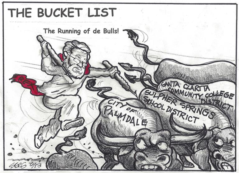 Rex running of the bulls