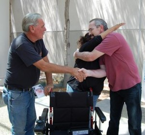 Wheelchair theft victim donation 2