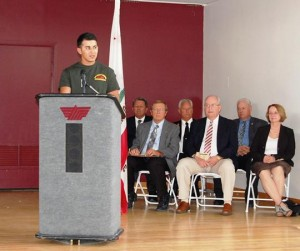 Class President Joshua Franco spoke at the ceremony.
