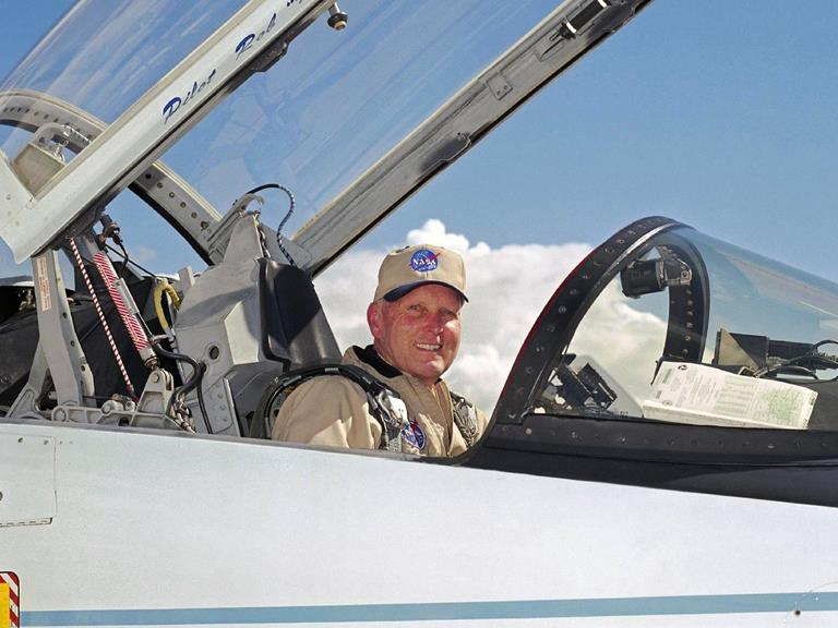 C. Gordon Fullerton served for  22 years as a research test pilot on a variety of high-profile projects at NASA's Dryden Flight Research Center at Edwards Air Force Base.