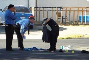32-year-old Dean Klein was killed, while two men and a woman were injured. (Photo by LUIS MEZA)