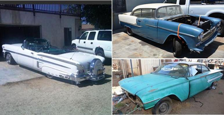 Authorities raided a Quartz Hill home on July 24 and recovered three stolen classic cars: 1955 Chevrolet Bel Air, a 1960 Chevrolet Impala, and a 1958 Chevrolet Impala. The '58 Chevy Impala was completely restored from the frame up. (Photos courtesy LASD)