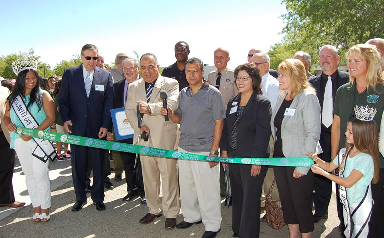 Surrounding by elected officials and local community leaders Friday morning, Guidance Charter President Kamal Al-Khatib cut the ribbon to signal to opening of the new high school campus in Palmdale.
