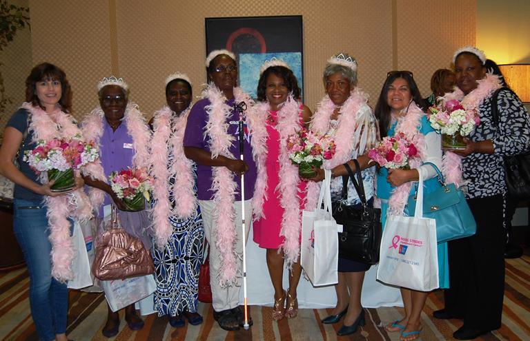Breast cancer survivors wore feather boas and tiaras to a kick-off rally at the Embassy Suites Wednesday morning to launch the inaugural Making Strides Against Breast Cancer/Antelope Valley.