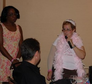 Survivor Lorie Brown shared her story with the audience.