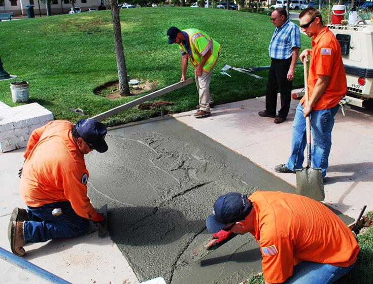 At the TNOTS grand finale Thursday (Aug. 22), the winner of the Walk on Words Poetry Contest will be announced and the winning poem will be unveiled in concrete at the gazebo at 6:30 pm. (Photo courtesy City of Palmdale.)
