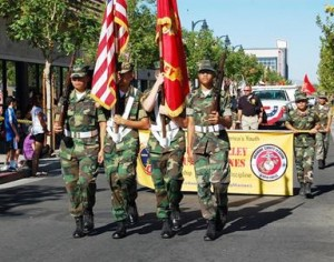 Young Marines won the Color Guard category.