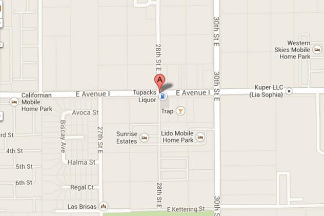 pedestrian fatal Ave I and 28th Street East Lancaster map
