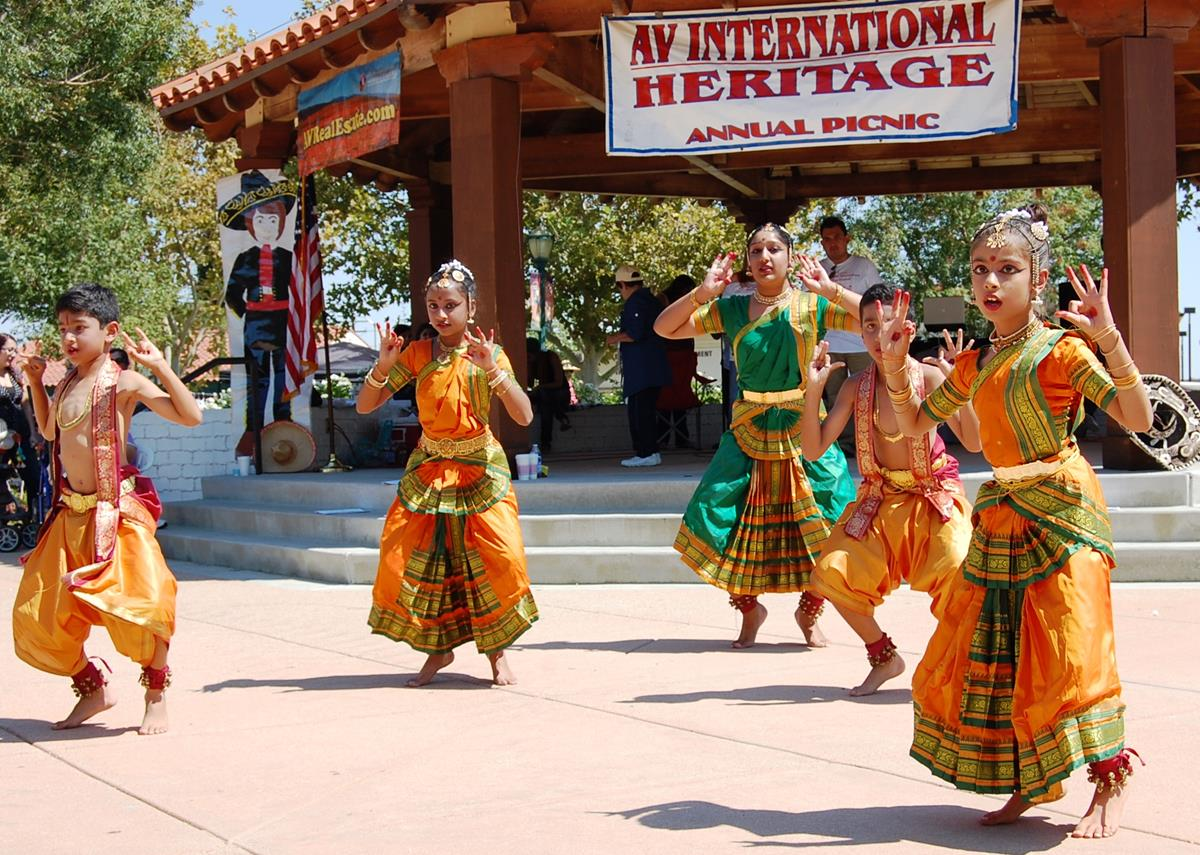 A Bharatanatyam dance, performed by a young Indian  dance group, was one of more than a dozen performances that dazzled spectators at the 19th Annual Antelope Valley International Heritage Festival.