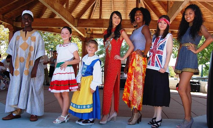 "Academy of Style presented ""Models from Around the World."" Local models representing Mexico, Bahamas, Ethiopia, China, Ghana, England, Sweden and Scotland were featured."