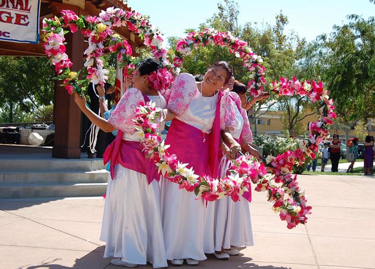 "Dancers from the Filipino American Association of the Antelope Valley performed a ""Flower Dance."""