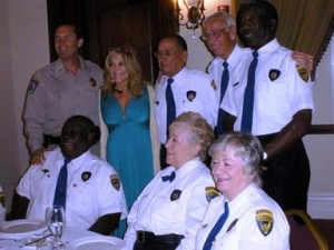 Actress Lydia Cornell poses for a photo with senior volunteers at last year's gala. (Contributed)
