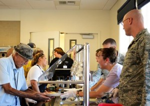 Members of the Air Force Sergeants Association served a barbecue lunch.