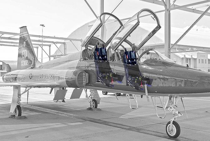 The new seat, the Mk US16T by Martin-Baker, will replace the old Northrop Grumman seat. (U.S. Air Force graphic/Jet Fabara)