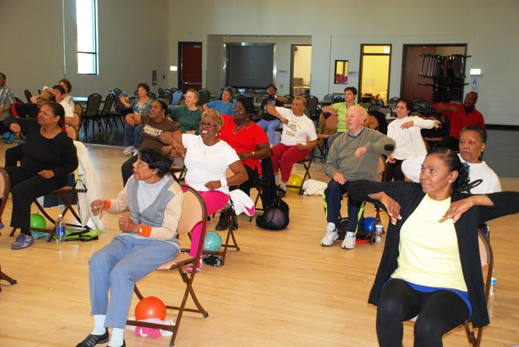 Exercise classes are just some of the many activities going on at Legacy Commons for Active Seniors.