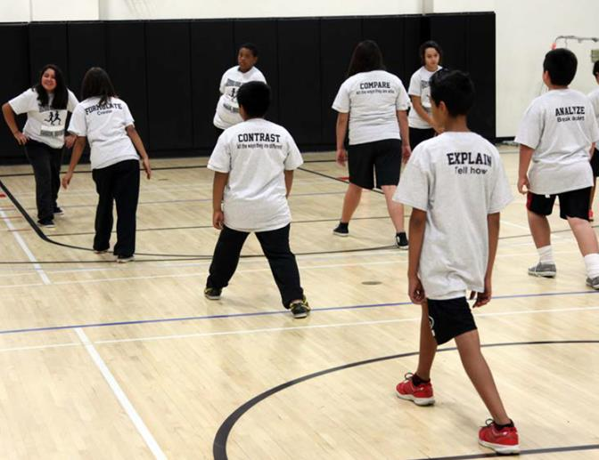 Students' Physical Education uniform now list words that are commonly used within CCSS and on standardized tests that cause students difficulty when they encounter them. (Contributed photos)