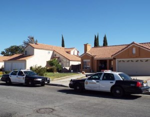 The incident happened at a home in the 1500 Block of Windsor Place in Palmdale. (LUIS MEZA)
