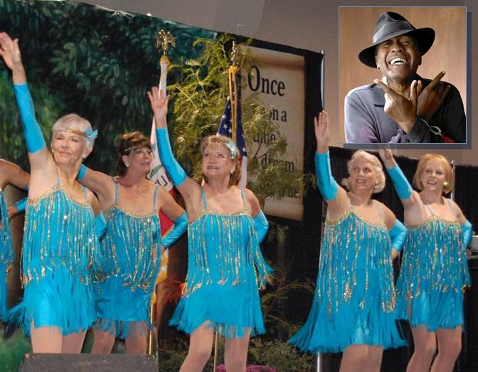 This year's Senior Expo celebrates dance and features international song and dance artist Ben Vereen (top right).