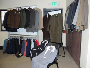 Donated items were on display at a press conference Wednesday morning.