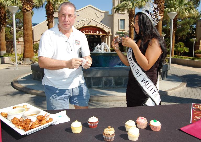 Wine consultant Dave Whiteman and Miss Antelope Valley Jasmine Alniami attended a press conference at the AV Mall Thursday morning to announce details of the 6th Annual Taste of Palmdale.