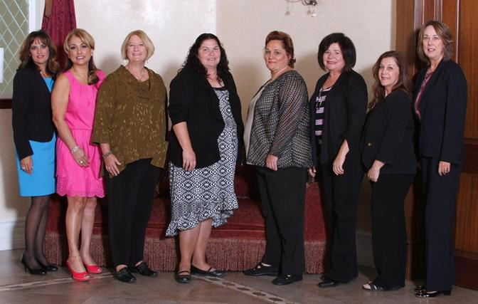 The 2013 Athena Award nominees (L to R) are Nicole McCracken, Lena Grand-Weber, Sue Dell, Phyllis Van Sambeek, Patricia Shaw, Linda Santana, Robin Bramson-Gillins, Dianne Knippel and Carol Stanford (not pictured).