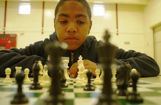Jonathan Herrera, a 6th grader at Gregg Anderson Academy, won 1st Place overall in the Main Section of the Chess Spectacular. Congratulations Jonathan! (All photos by Matt Mahowald)