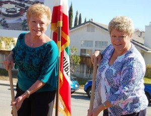 Millen's widow, Sharon (left) and stepdaughter Vicky Vogel (right) attended the ceremony.