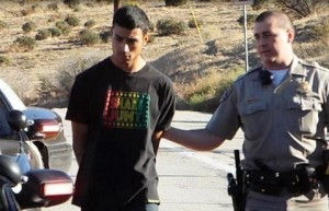 19-year-old Jose Gutierrez was booked at the Palmdale Station on $50,000 bail. (LUIS MEZA)