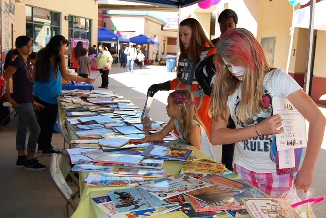 The event was aimed at promoting literacy, therefore, even child in attendance got to take home an age-appropriate book.