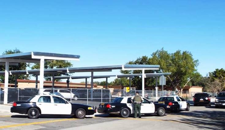 """Mariposa Elementary School in Lancaster was put on lockdown briefly Friday morning after a report of shots fired, but the lockdown was lifted after it turned out the """"shots"""" may have been fireworks. (Photo by LUIS MEZA)"""