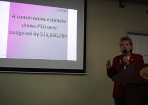 A conservative estimate shows PSD over budgeted by more than $15.5 million, Smith claimed.