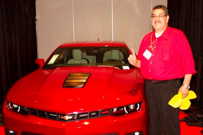 Pablo Solis, General Manager of the Palmdale HomeTown Buffet, was the grand prize winner of a new car at the recent Company Paid Vehicle (CPV) event in Las Vegas. Solis and 21 other General Managers were honored at the CPV, which recognizes managers who have significantly increased profits over the past year.