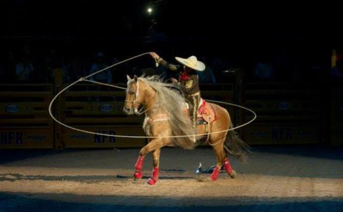 Legendary horseman and rope artist, Tomas Garcilazo - The Charro will perform at the California Heritage Days events from Oct. 18-20. (photo courtesy of Mike Copeman, PRCA ProRodeo).