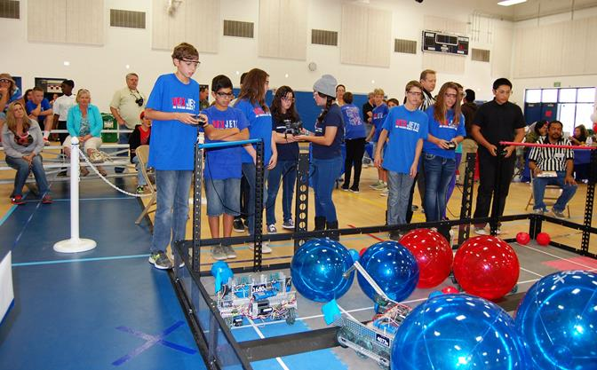 The VEX Jets compete at the first ever VEX robotics tournament in the Antelope Valley. The daylong event took place Saturday (Oct. 12) in the gymnasium at Joe Walker Middle School STEALTH Academy.