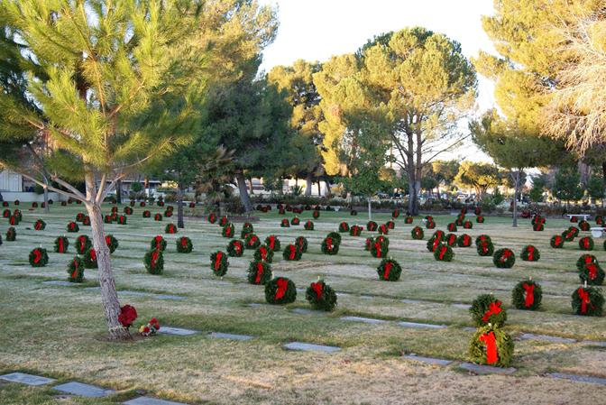 The goal is to provide 800 wreaths to adorn every veteran's grave and every Gold Star mother and father's grave at Lancaster Cemetery in time for the nationwide remembrance ceremony on December 14, 2013. (Photo courtesy DAYLE DEBRY)