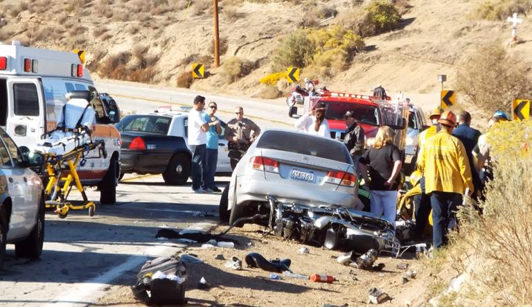 The fatal collision occurred around 3:10 p.m. Saturday, Oct. 19 on Elizabeth Lake Road, just east of Godde Hill Road. (Photo by LUIS MEZA)