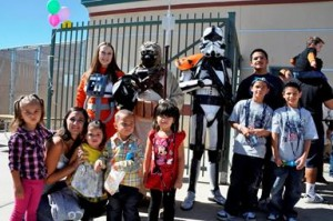 Star Wars characters were a hit at the event.