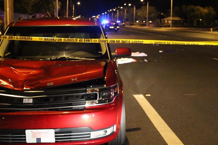 The fatal traffic collision was reported around 9:55 p.m. Monday on 30th Street East near the intersection of Palmdale Boulevard. (Photo by TONY CHEVAL)