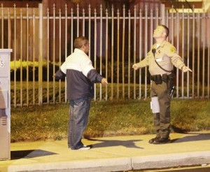 Driver Francisco Nunez took a field sobriety test at the scene. Nunez was not arrested. (TONY CHEVAL)
