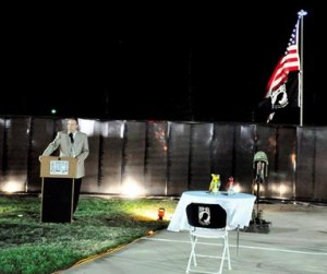 """Palmdale Mayor Jim Ledford said the AV Wall provided an """"awesome opportunity"""" for the community to say thank you to veterans."""