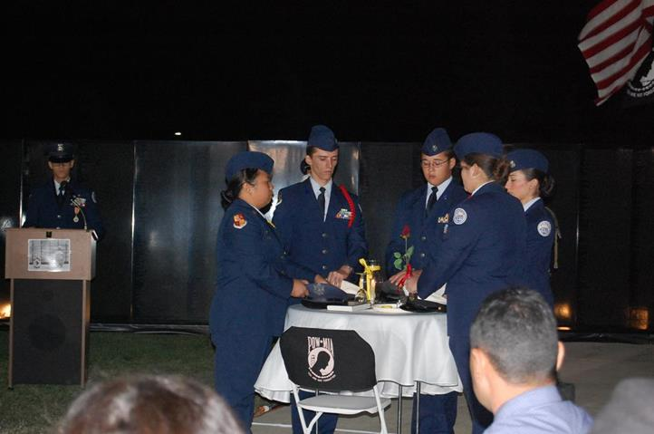 A Table of Honor Ceremony was conducted by Highland High School Air Force JROTC.