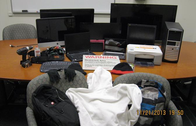 Deputies recovered several items stolen in recent BLVD burglaries, as well as the clothing the burglars were wearing during the commission of the burglaries. (Photo courtesy LASD)