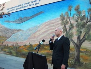 Lancaster branch manager Matthew Herbstritt said the mural is a daily reminder of military sacrifice.