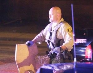 Deputies recovered a bullet proof vest from the suspect.